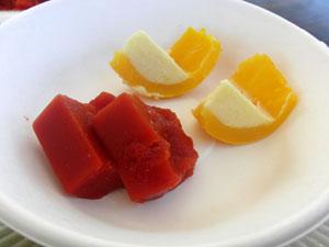 寒天トマトとプッチーニ